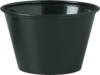 P400E-0001 Black Plastic Portion Souffle Cups