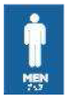 Frost 960 Male Symbol, Braille Emboss, Blue/White, 4x6