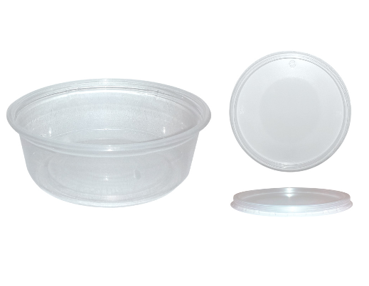 Nexday Supply Ht08 Clear Plastic Deli Container And Lid Combo 8 Oz
