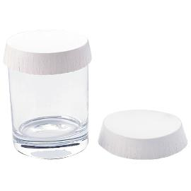 Nexday Supply Stancap Uncoated Glass Covers 82mm White