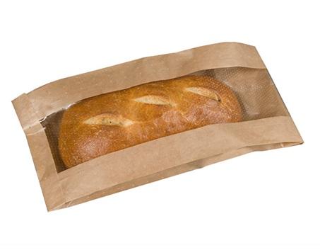 Nexday Supply 320865 Cello Window Bread Bag Natural