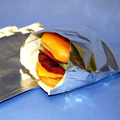 Nexday Supply 700101 Deluxe Foil Burger Bags 5 5x1 25x6 75